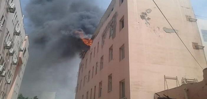 بالصور.. حريق محدود بمستشفى التأمين الصحي في المحلة