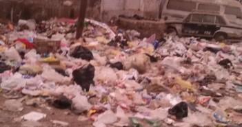 مواطنون يشكون تفاقم أزمة القمامة خلف مستشفى ناصر بشبرا الخيمة