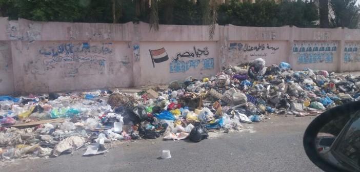 صور | انتشار القمامة بجوار وحدة صحة المنيرة بإمبابة