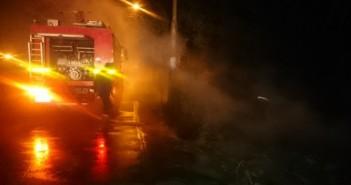 حريق قمامة في دمياط