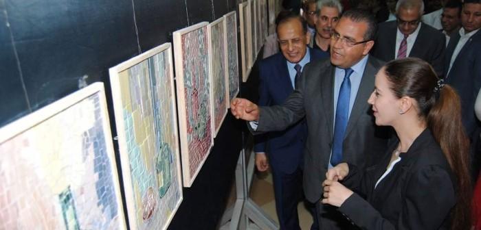 بـ 1000 عمل.. افتتاح معرض طلاب فنون جميلة بجامعة المنصورة (صور)