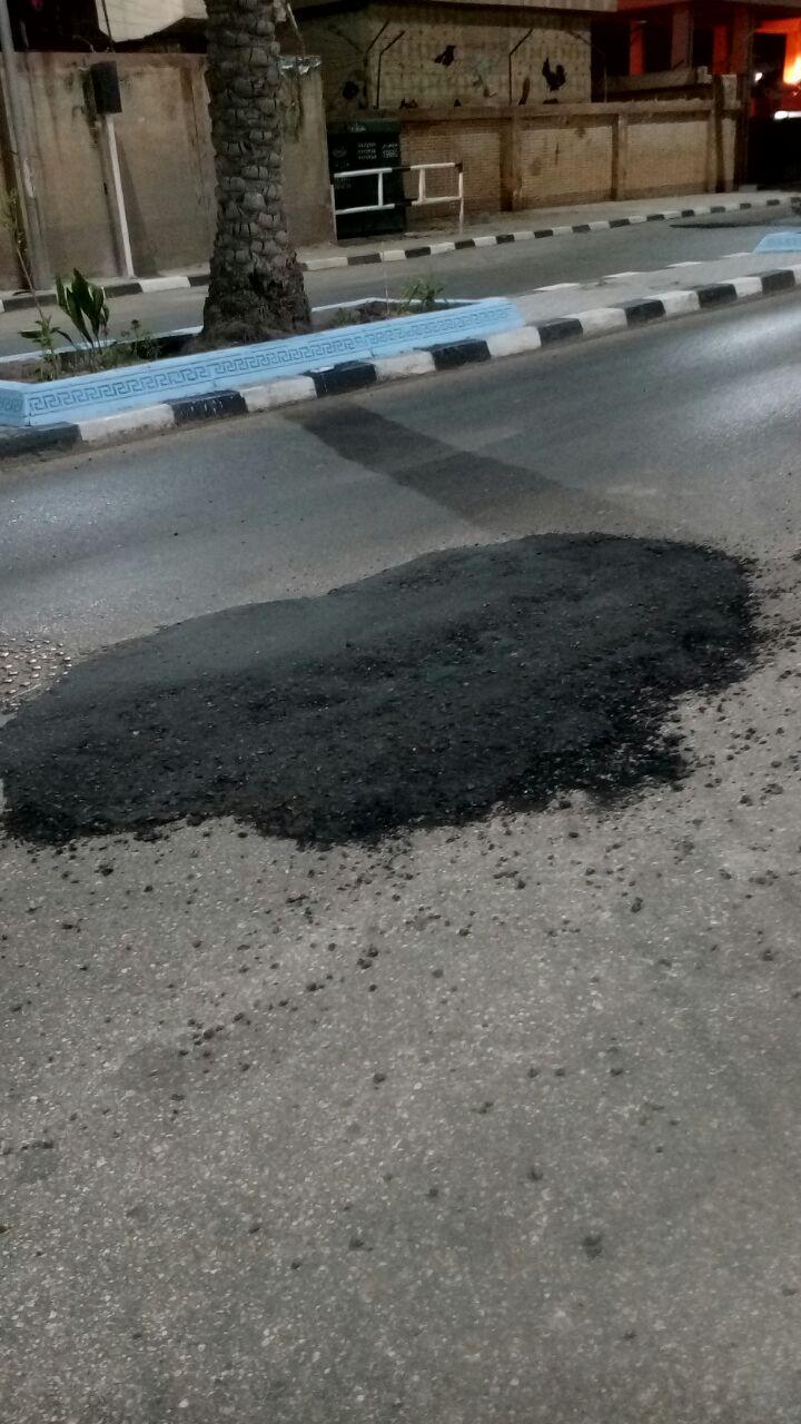 «ترقيع» شوارع رشيد قبيل زيارة وزيري الثقافة والآثار.. ومواطن: «النظافة للمسؤول وبس»