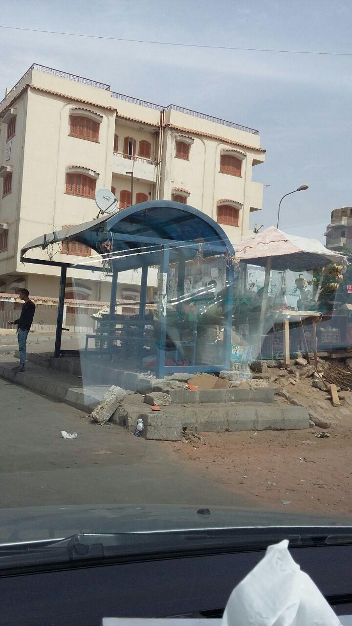 إشغالات تحاصر محطة أتوبيس بالحي الأول بمدينة نصر