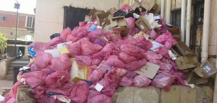 تكدس النفايات الطبية بمستشفى إدفو.. وبلاغ ضد مديره ورئيس المدينة (صور)