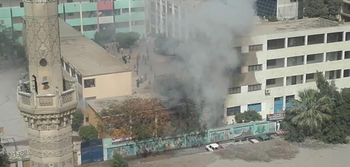 لحظة وقوع انفجار بمدرسة للتدريب المهني بالدقي (صور)