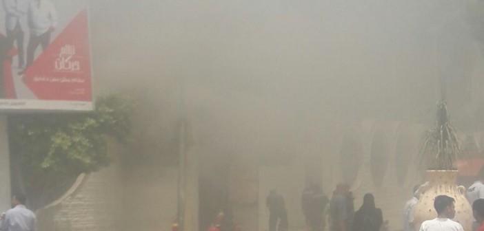 بالصور.. حريق بالمعهد العالي للسينما بالهرم.. وإخلاء الطلاب