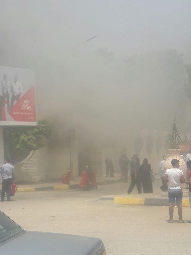 بالصور.. موجة الحرائق تصل المعهد العالي للسينما بالهرم