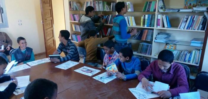 في «المعابدة».. إطلاق أول مكتبة خيرية بواحدة من أفقر قرى أسيوط (صور)