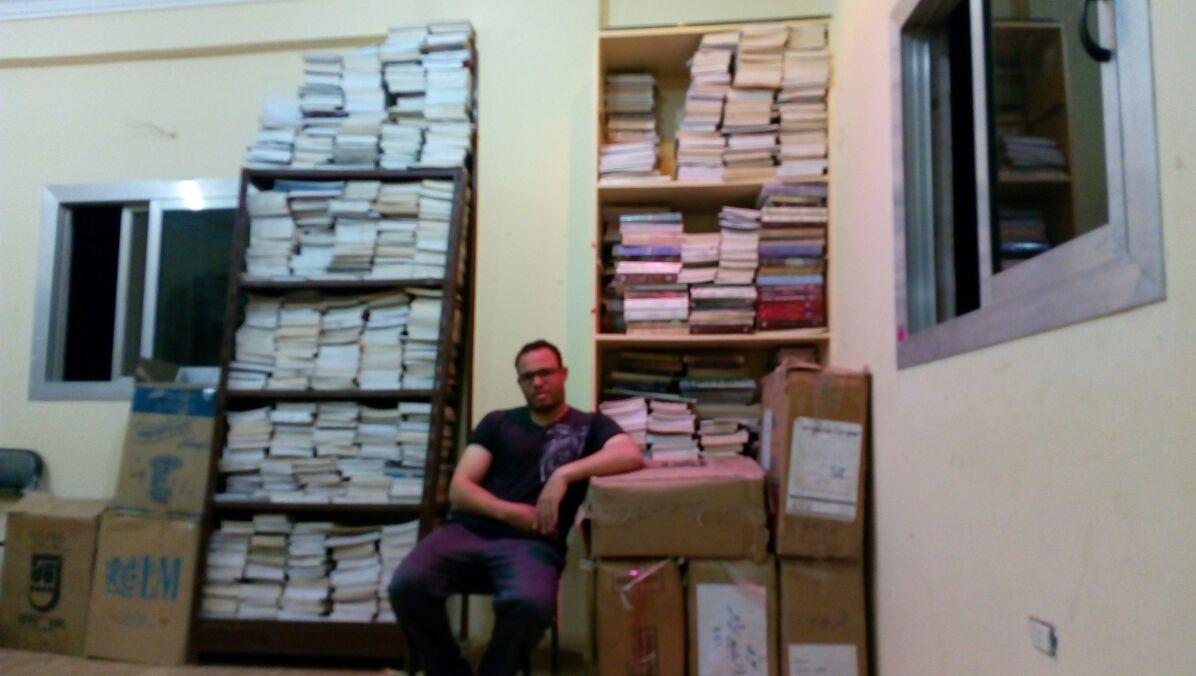 بالصور.. في «المعابدة».. ظهور أول مكتبة خيرية في واحدة من أفقر قرى أسيوط