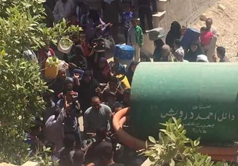 انقطاع مُتكرر للمياه في «أبورجوان»بالجيزة.. والأهالي: يصل لـ 10 ساعات (فيديو)