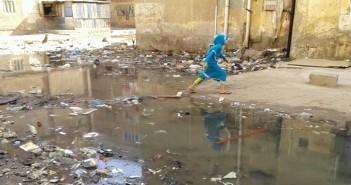 بالصور.. تفاقم أزمة الصرف الصحي بمساكن النصر ببورسعيد وسط تجاهل المسؤولين