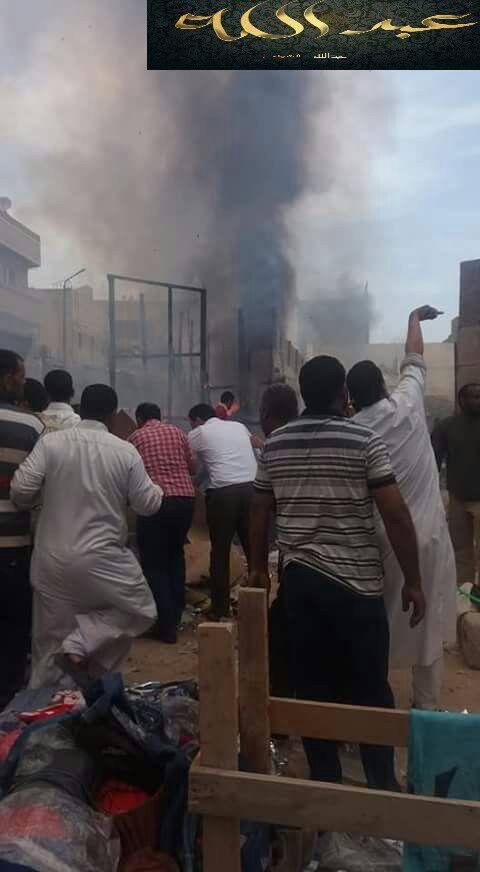 السيطرة على حريق اندلع في محلات وأكشاك ملابس بالعامرية