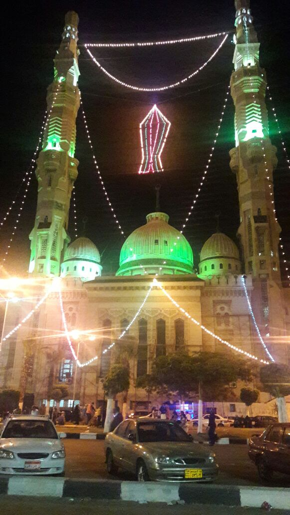 مساجد وشوارع بور فؤاد تتزين فى إستقبال شهر رمضان