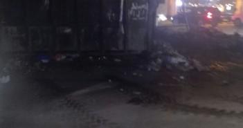 بعد النشر على «شارك».. رفع تجمعات القمامة أمام نادي سبورتنج