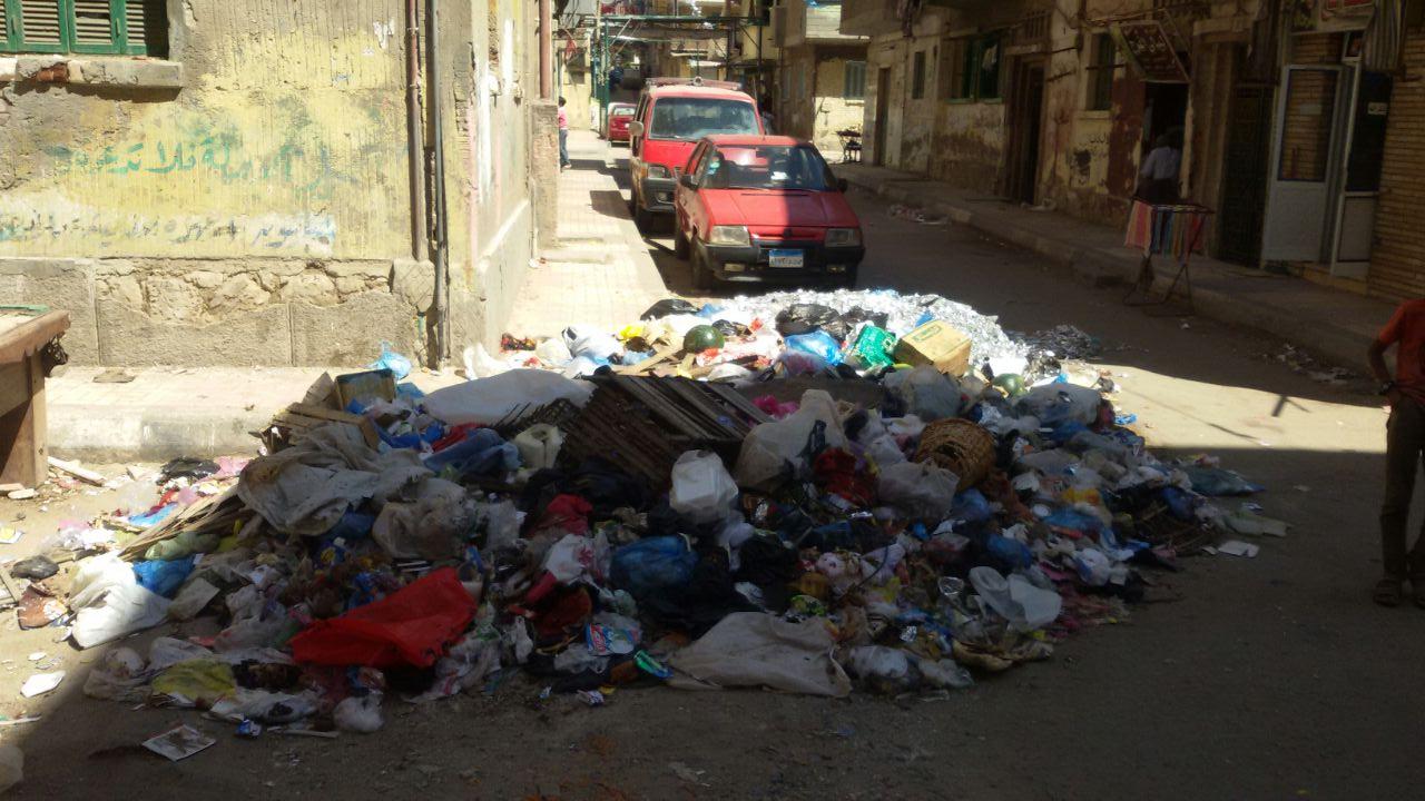 أهالى مساكن عثمان بالإسكندرية يشتكون من تراكم أكوام القمامة بالمنطقة