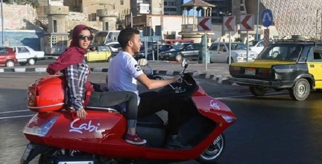 «كابي».. خدمة جديدة لتوصيل الركاب بـ«الموتوسيكلات» بالإسكندرية (صور)
