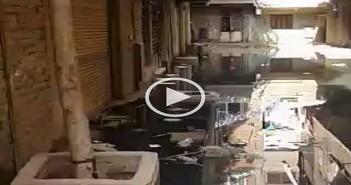 الصرف يغرق شوارع القصبجي بالجيزة