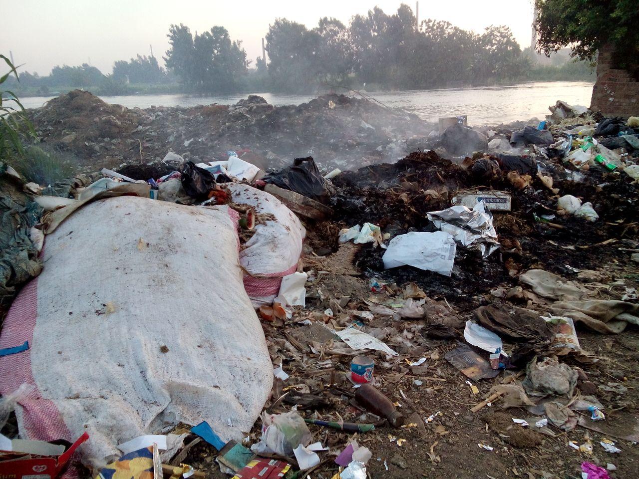 صور | ضفاف النيل بميت غمر تتحول لمقلب قمامة في غياب المحليات