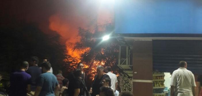 بالصور.. اللحظات الأولى لحريق استديو النحاس بالهرم