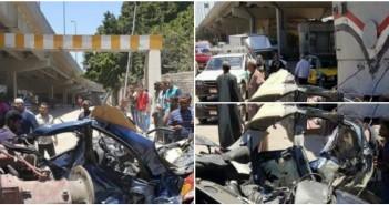 بالصور.. تصادم قطار بملاكي على مزلقان القباري غرب الإسكندرية