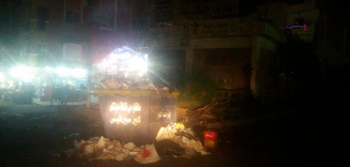 بالصور.. استياء مواطني «العبور» من انتشار القمامة في شوارعها