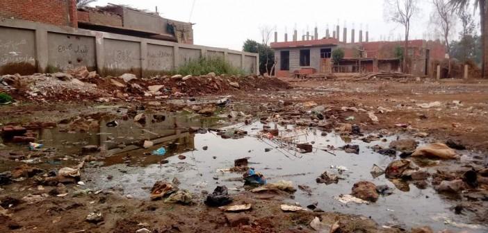 مياه الصرف تغمر قرية «مشيرف» بالمنوفية (صور و فيديو)