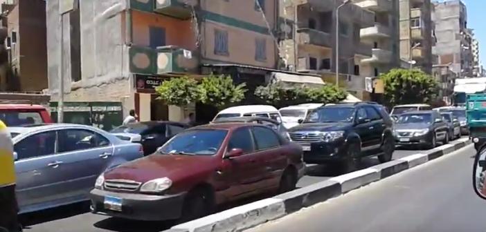 فيديو | زحام مروري بشوارع بالإسكندرية تزامنا مع زيارة الرئيس للكلية البحرية