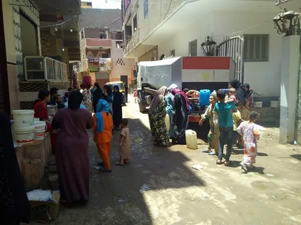 انقطاع المياه في مناطق بالحوامدية منذ أكثر من 60 يومًا (صور)ذ