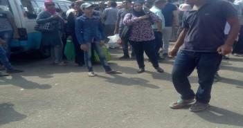 إضراب محدود لسائقي موقف ميدان ألف مسكن