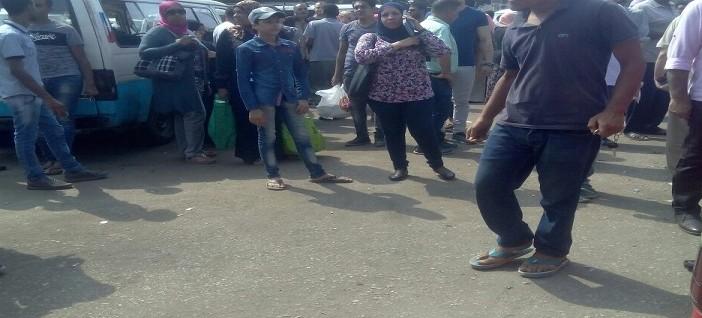 إضراب محدود لسائقي ميكروباص ميدان ألف مسكن (صورة)