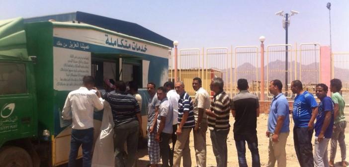 3 أشهر من الانتظار تحت الشمس بسبب سيارة خدمات بريد شرم الشيخ (صور)