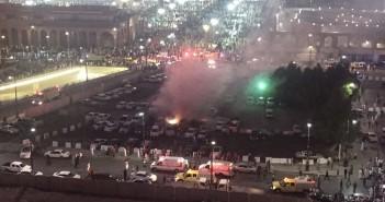 قارئ يرسل صوراً حصرية «لشارك المصري اليوم» لتفجيرات المسجد النبوي بالسعودية
