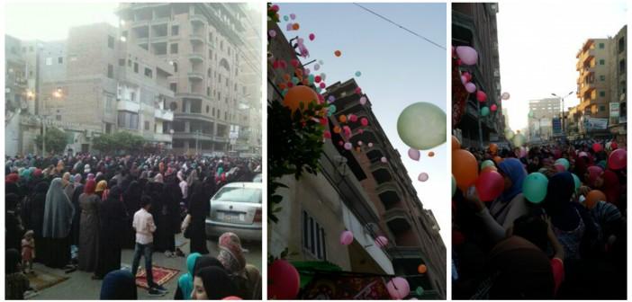 بالصور.. احتفالات العيد في شربين بإطلاق البالونات وتوزيع الحلوى (شاركونا صوركم)