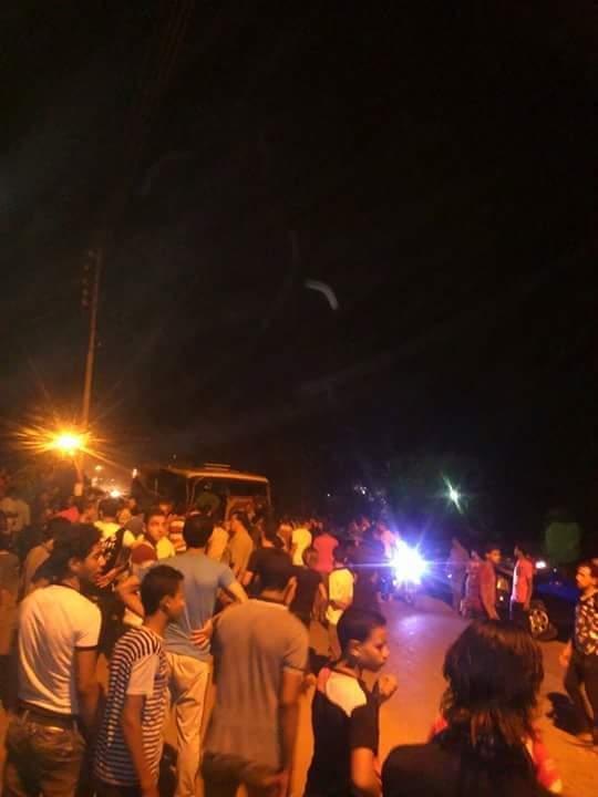 تصادم أتوبيس وجرار مقطورة في ديرب نجم بالشرقية (صور)