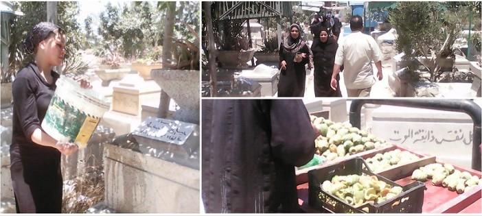 زيارة القبور في العيد بالإسكندرية.. الرحمة للموتى والرزق نصيب للأحياء (تقرير)