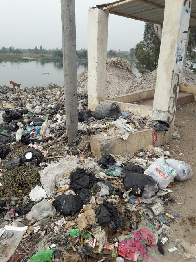 أهالي«أتريس» بالقليوبية يشتكون من إلقاء الوحدة المحلية للقمامة في النيل (صور)