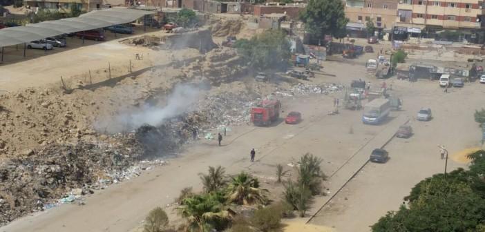 حرق القمامة قرب الضغط العالي يهدد سكان الحي الثامن لمدينة نصر (صور)