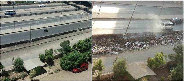 بعد النشر على «شـارك».. رفع القمامة من أمام مدينة الأمل في إمبابة (صور)