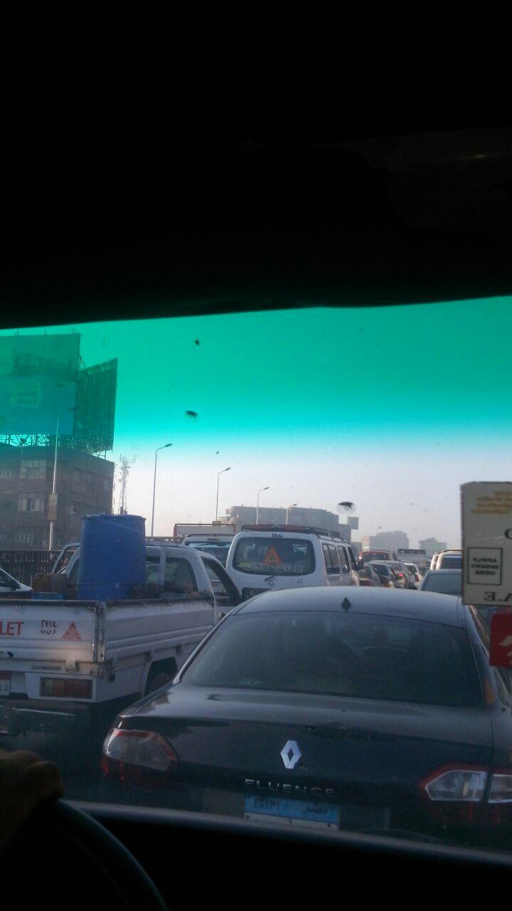 كثافات مرورية عَ الزراعي من قليوب حتى الطريق الدائري (صورة)