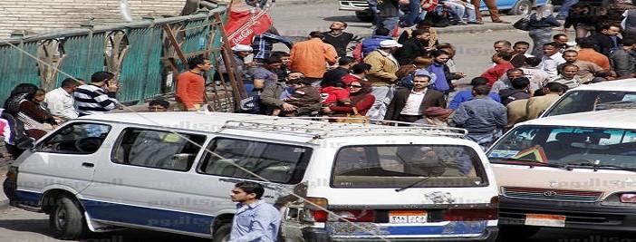 إضراب سائقي الميكروباص بالمعادي بعد مقتل سائق برصاص أمين شرطة