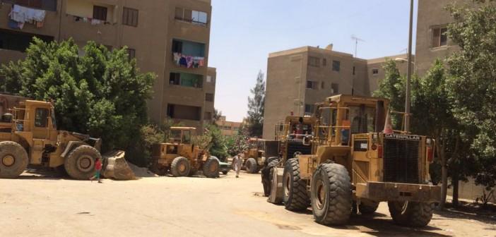 صور | شوارع التجمع الثالث بالقاهرة الجديدة «جراش اللودرات»