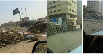 بالصور.. مواطن يرصد مشاهد تراكم القمامة قرب الدائري بالجيزة
