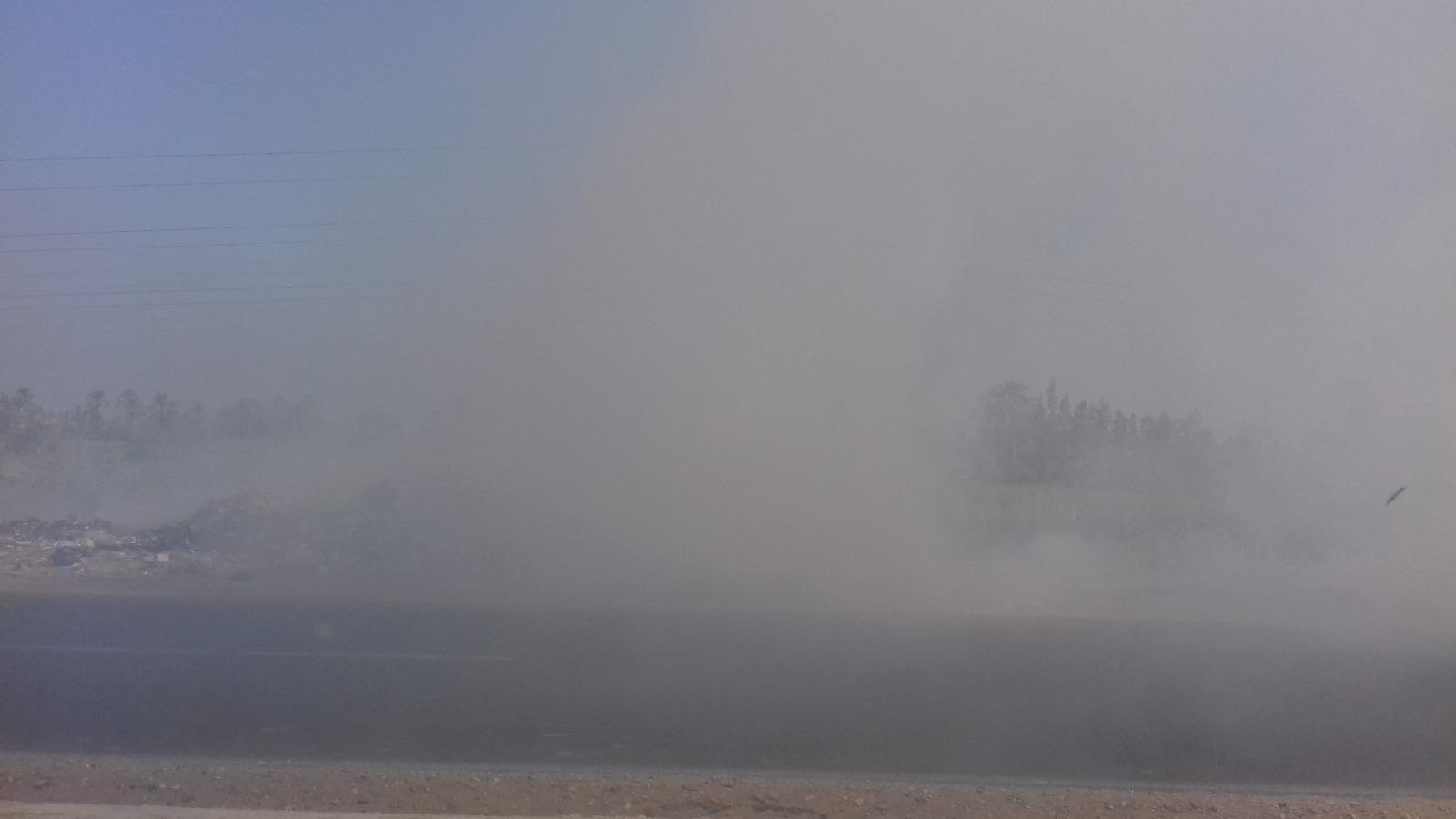 صور | مقلب قمامة مجاور لمعهد في بلبيس يهدد حياة الطلاب.. ووقوع حوادث مرورية