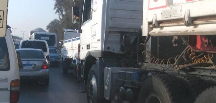 🚦 زحام عَ الزراعي بسبب حادث مروري بين قها وسنديون بالقليوبية (صور)