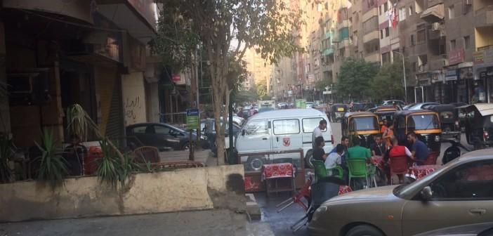 أهالي فيصل يشكون انتشار إشغالات المقاهي بالشوارع