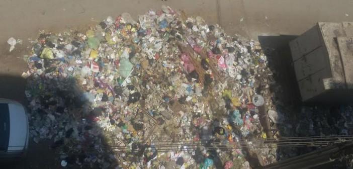 تفاقم أزمة القمامة في منطقة الجوازات بالزقازيق (صور)