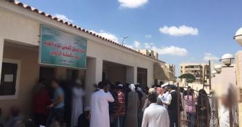 مطالب بإنشاء استراحات وزيادة عدد الموظفين بسجل مدني برج العرب الجديدة لتخفيف الزحام (صور)