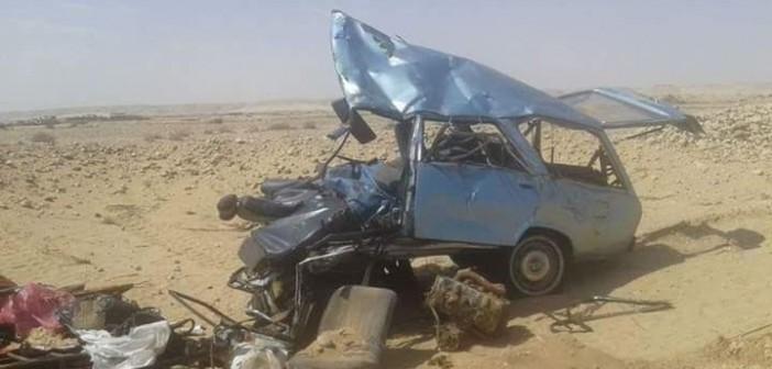 بالصور.. مصرع 12 في حادث تصادم على طريق سوهاج الدولي