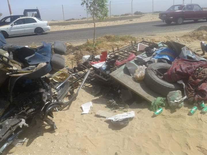 حادث مروع على طريق سوهاج الدولي يسفر عن مقتل 12 وإصابة آخرين (صور)