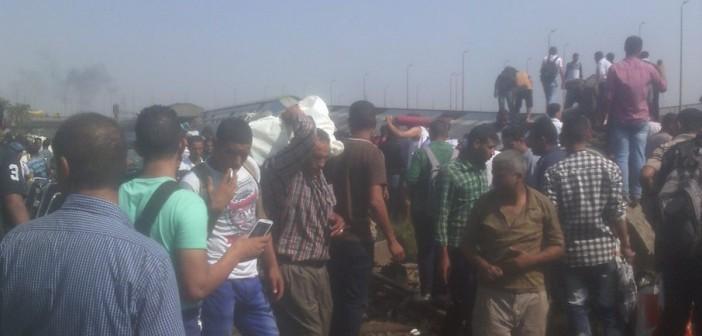 🔴 بالصور.. اللحظات الأولى لحادث انقلاب قطار العياط بالجيزة (مُحدث)